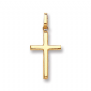 9ct Gold small narrow Cross Pendant